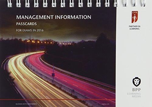 9781472739186: ICAEW Management Information: Passcards