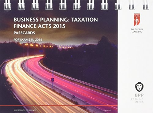9781472739247: ICAEW Business Planning: Taxation: Passcards