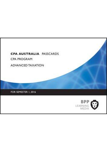 9781472740489: CPA Australia Advanced Taxation: Passcards