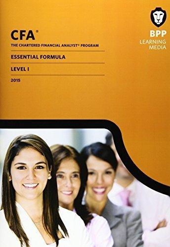 9781472741042: CFA Level 1: Essential Formulas