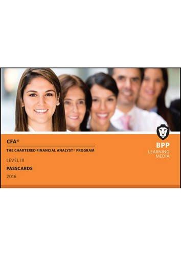 9781472741325: CFA Level 3: Passcards