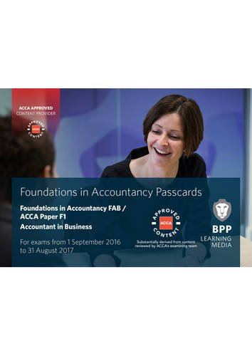 9781472745958: FIA Foundations of Accountant in Business FAB (ACCA F1): Passcards