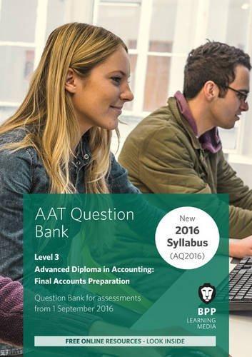 9781472748508: AAT Final Accounts Preparation: Question Bank