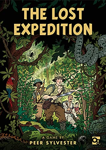 The Lost Expedition: A game of survival in the Amazon 9781472824165 Number of players: 1-5 Ages: 14+ Playing Time: 30-50 minutes Components: 6 Character cards, 9 Jungle cards, 56 Adventure cards, 2 Refere