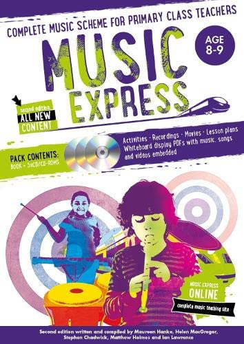 9781472900203: Music Express: Age 8-9 (Book + 3CDs + DVD-ROM): Complete Music Scheme for Primary Class Teachers