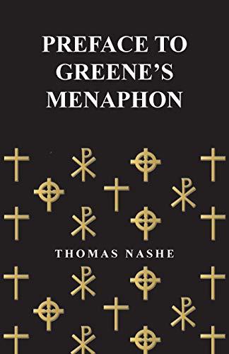 9781473308718: Preface to Greene's Menaphon