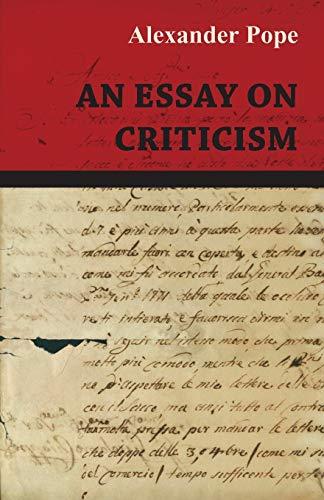 9781473323841: An Essay on Criticism