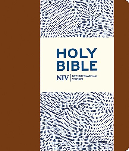 NIV Journalling Brown Imitation Leather Bible with Clasp (Paperback): New International Version