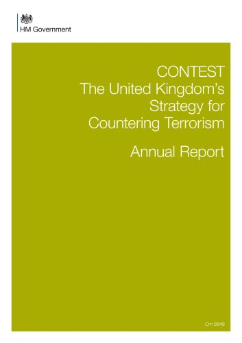 9781474101738: Contest: The United Kingdom's Strategy for Countering Terrorism, Annual Report (Cm.)