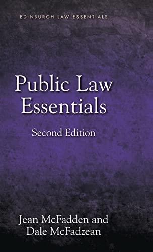 Public Law Essentials (Edinburgh Law Essentials EUP): McFadzean, Dale; McFadden,