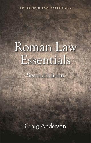 9781474425070: Roman Law Essentials (Edinburgh Law Essentials)