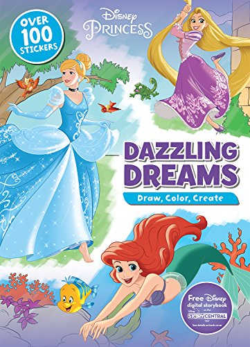 9781474836456: Disney Princess Dazzling Dreams: Draw, Color, Create: Includes Free Disney Digital Storybook