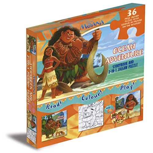 9781474854009: Disney Moana Ocean Adventure: Storybook and 2-in-1 Jigsaw Puzzle