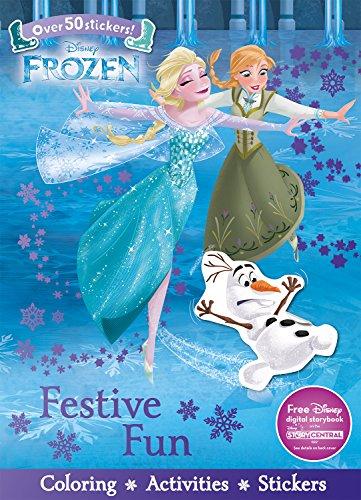 9781474854795: Disney Frozen Festive Fun (Sticker Scenes & Coloring Book)