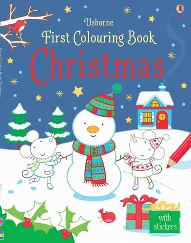 First Colouring Book Christmas (First Colouring Books): Rachel Wells, Candice Whatmore