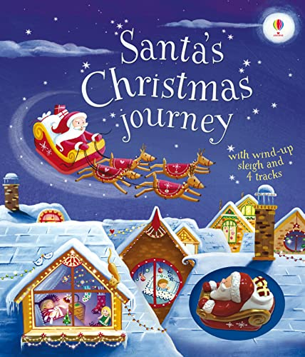 9781474906401: Santa's Christmas Journey with Wind-Up Sleigh (Wind-Up Books)