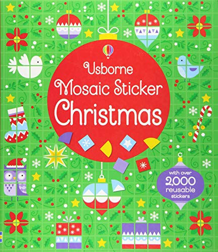 Mosaic Sticker Christmas (Paperback): Kirsteen Robson