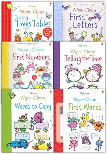9781474922869: Usborne Wipe-Clean: 6 Book Pack