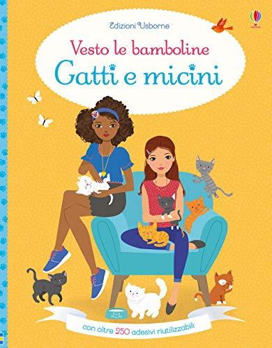 9781474953917: Gatti e micini. Vesto le bamboline. Con adesivi