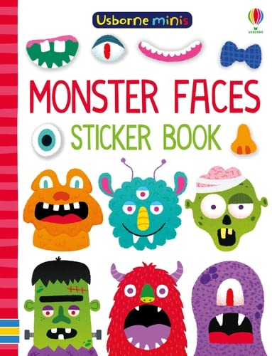 9781474960311: Monster Faces Sticker Book (Usborne Minis)