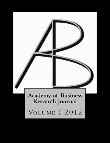 9781475002232: Academy of Business Research Journal