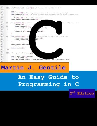 9781475063356: An Easy Guide to Programming in C, Second Edition