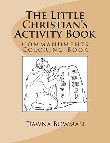 9781475085006: The Little Christian's Activity Book: Commandments Coloring Book
