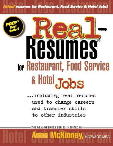 9781475093865: Real-Resumes for Restaurant, Food Service & Hotel Jobs
