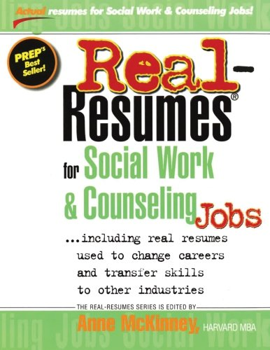 9781475093919: Real-Resumes for Social Work & Counseling Jobs