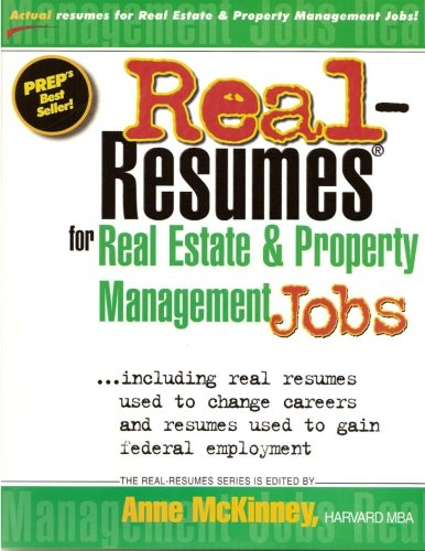 9781475099881: Real-Resumes for Real Estate and Property Management Jobs
