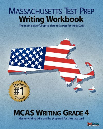 9781475140446: MASSACHUSETTS TEST PREP Writing Workbook MCAS Writing, Grade 4