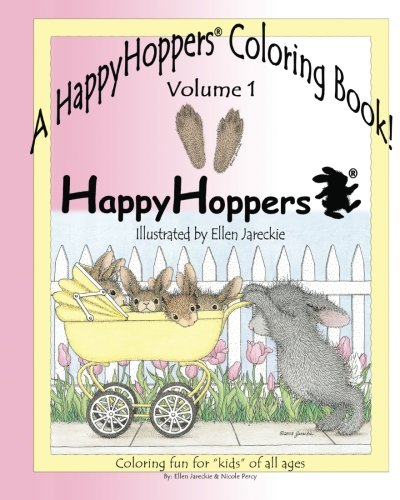 9781475244755: A HappyHoppers® Coloring Book - Volume 1: featuring the HappyHoppers® bunnies by artist Ellen Jareckie