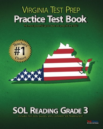 9781475255812: VIRGINIA TEST PREP Practice Test Book SOL Reading Grade 3