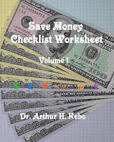 9781475287561: Save Money Checklist Worksheet - Volume 1