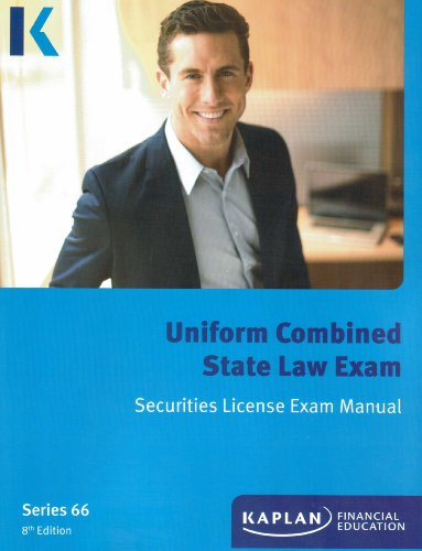 9781475422030: Kaplan Series 66 License Exam Manual, Uniform Combined State Law Exam