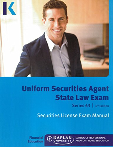 9781475427011: Kaplan Series 63 Securities License Exam Manual and SecuritiesPro QBank, Uniform Securities Agent State Law Exam 6th edition 2014 by Kaplan (2014-05-04)