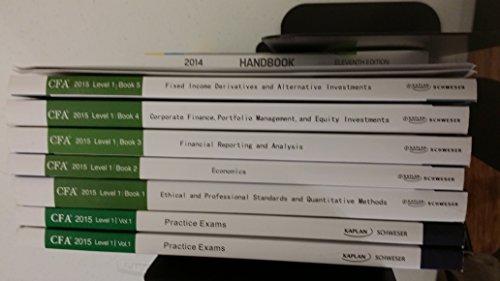 9781475427561: CFA 2015 Level 1 Schweser/Kaplan Distance Learning Package