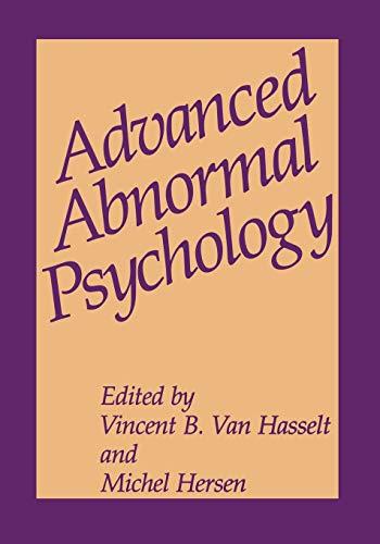 9781475703474: Advanced Abnormal Psychology