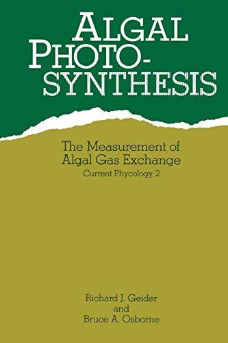 Algal Photosynthesis: Richard Geider