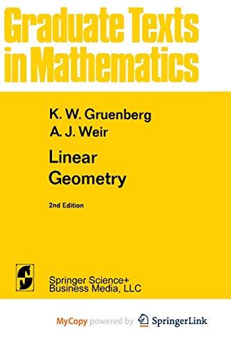 9781475741025: Linear Geometry