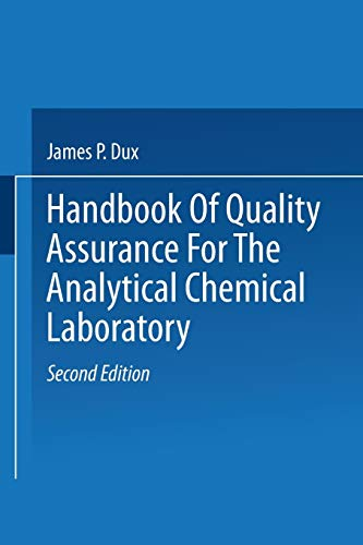 9781475753790: Handbook of Quality Assurance for the Analytical Chemistry Laboratory