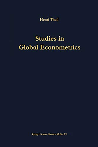9781475770308: Studies in Global Econometrics (Advanced Studies in Theoretical and Applied Econometrics)