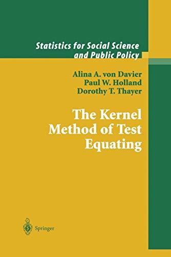 9781475780987: The Kernel Method of Test Equating (Statistics for Social and Behavioral Sciences)