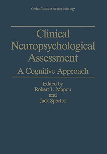 9781475797114: Clinical Neuropsychological Assessment: A Cognitive Approach