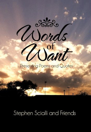 9781475962987: Words of Want: Presenting Poems and Quotes