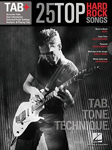 9781476813349: 25 Top Hard Rock Songs: Tab, Tone, Technique
