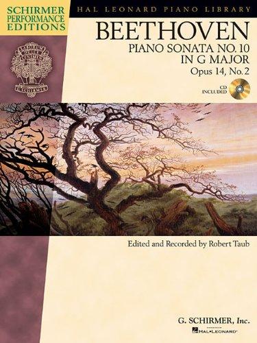 9781476816227: Beethoven: Piano Sonata No. 10 in G Major, Opus 14, No. 2 (Hal Leonard Piano Library)