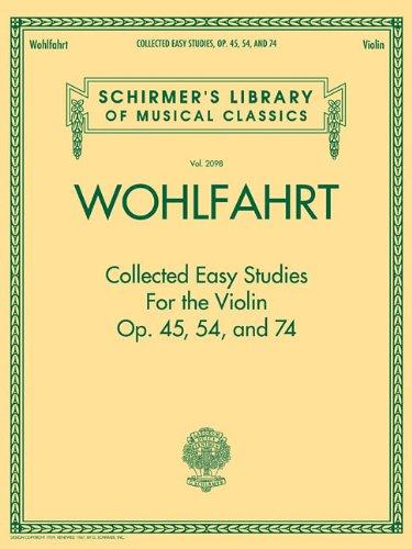9781476877273: COLLECTED EASY STUDIES OP. 45 OP. 54 AND OP. 74 (Schirmer's Library of Musical Classics)