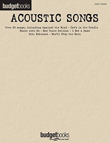 9781476889658: Acoustic Songs: Budget Books (Easy Piano)