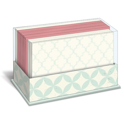 9781477005729: Blue Pattern Box of 50 Flat Note Cards